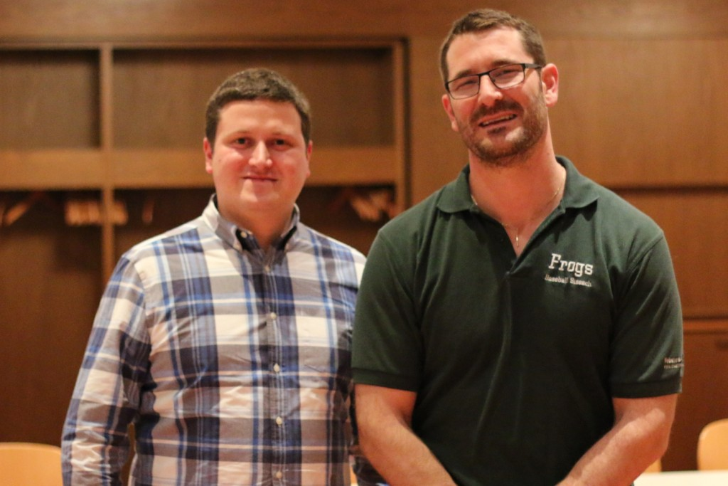 Martin Sutter (links) tritt die Nachfolge von Christian Klarer als Präsident bei den Sissach Frogs an.